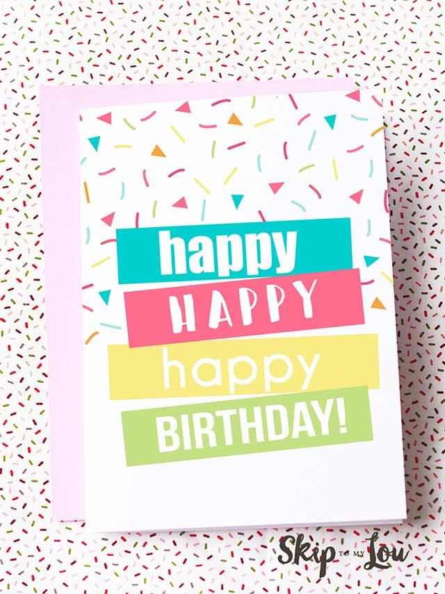 Free Printable Birthday Card - Free Printables and DIY Birthday Cards #birthdayideas #birthdaycards #freeprintables