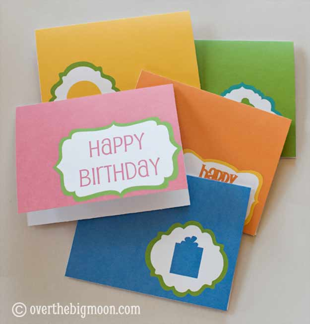 30 Handmade Birthday Card Ideas