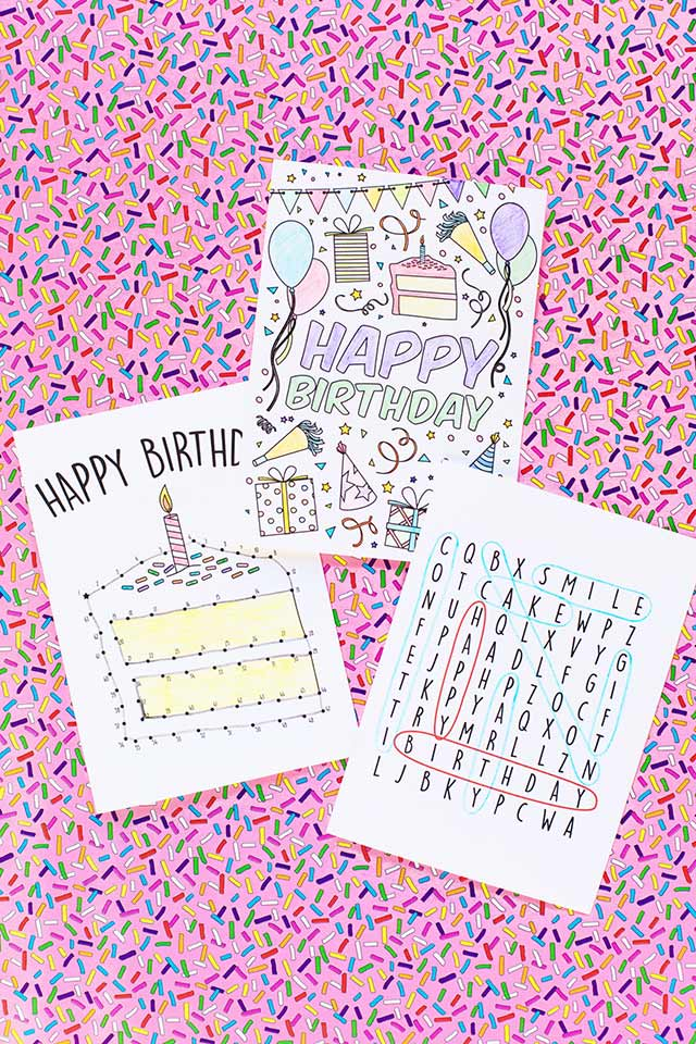 Free Printable Birthday Cards for Kids - Cute Gift Cards to Make for Birthdays - DIY Birthday Cards for Boys and Girls #birthdaygifts #birthdays #birthdaycards