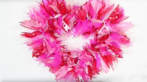 Dollar Tree DIY Valentine's Day Wreath   DIY Joy Projects and Crafts Ideas