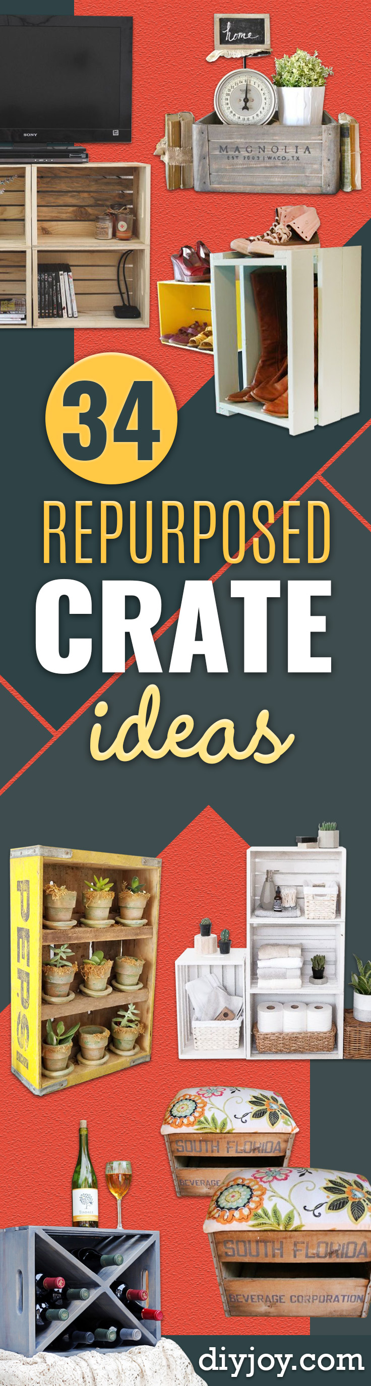 Things to Make With Crates - DIY Furniture Ideas - Cheap Home Decor Projects