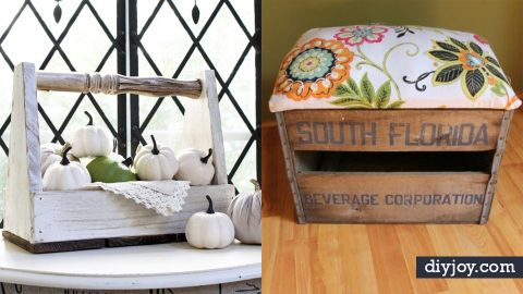 34 DIY Home Decor Ideas Made With Repurposed Crates | DIY Joy Projects and Crafts Ideas
