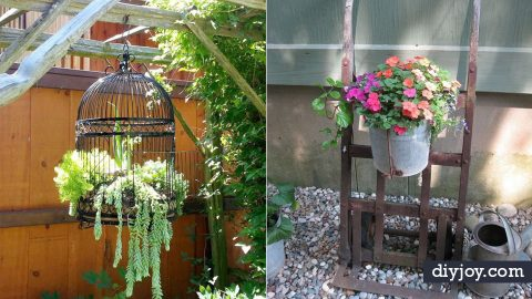 34 Upcycled Garden Art Ideas | DIY Joy Projects and Crafts Ideas