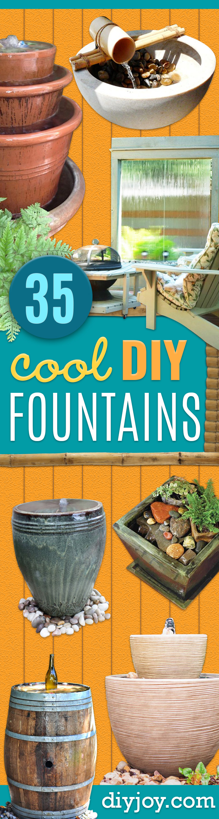 DIY Fountains - Easy Ways to Make A Fountain in the Backyard - Do It Yourself Projects for the Garden - DIY Home Improvement on a Budget - Step by Step DIY Tutorials With Instructions http://diyjoy.com/diy-fountains
