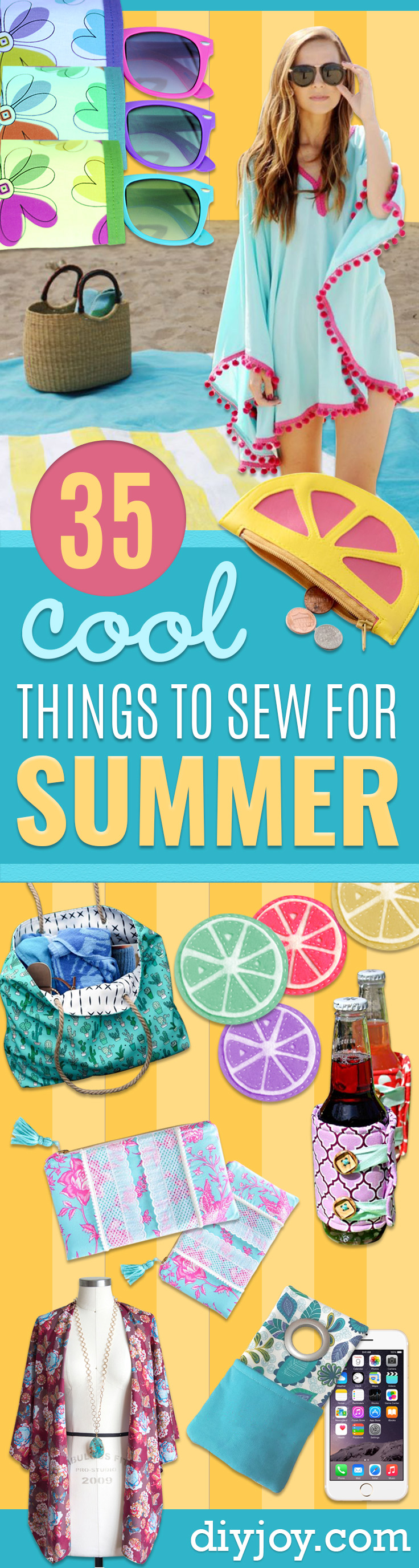Cool Things To Sew For Summer - Easy Dresses, Cute Skirts, Maxi Dress, Shorts, Pants and Tops