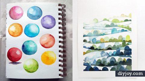 36 Watercolor Tutorials   DIY Joy Projects and Crafts Ideas