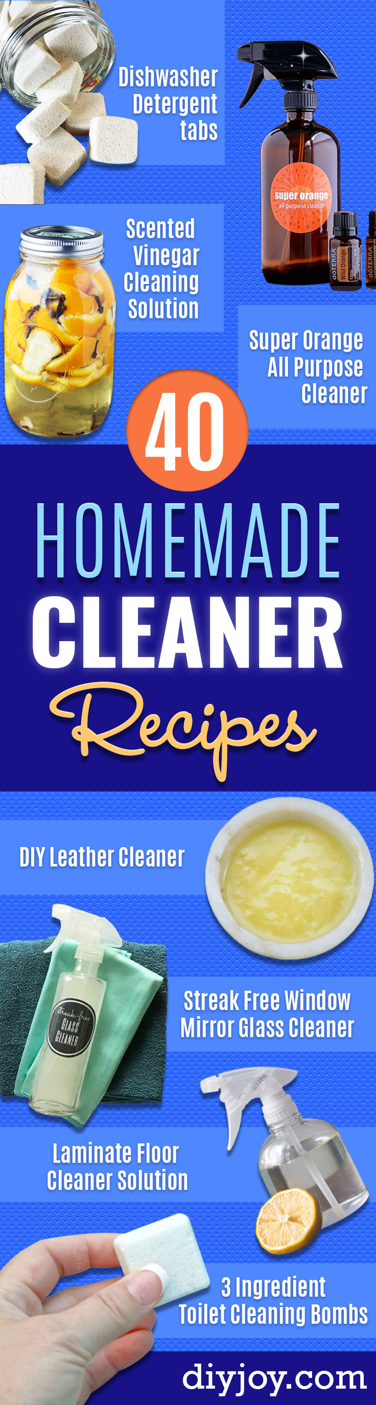 Homemade Cleaning Products - DIY Cleaners With Recipe and Tutorial - Make DIY Natural and ll Purpose Cleaner Recipes for Home With Vinegar, Essential Oils