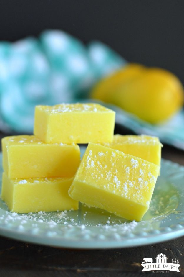 Quick Dessert Recipes - 5-Minute Lemon Fudge Recipe - Fast Desserts to Make In Minutes - Sweet Treats, Cookies, Cake and Snack Ideas