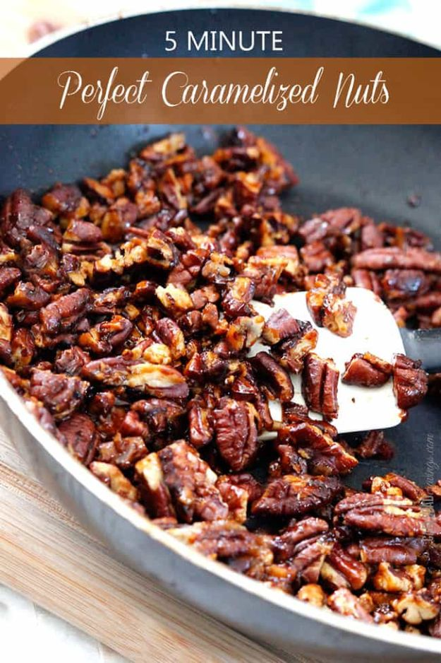 Easy Dessert Recipes -5-Minute Perfect Caramelized Nuts Recipe - Fast Desserts to Make In Minutes - Sweet Treats, Cookies, Cake and Snack Ideas