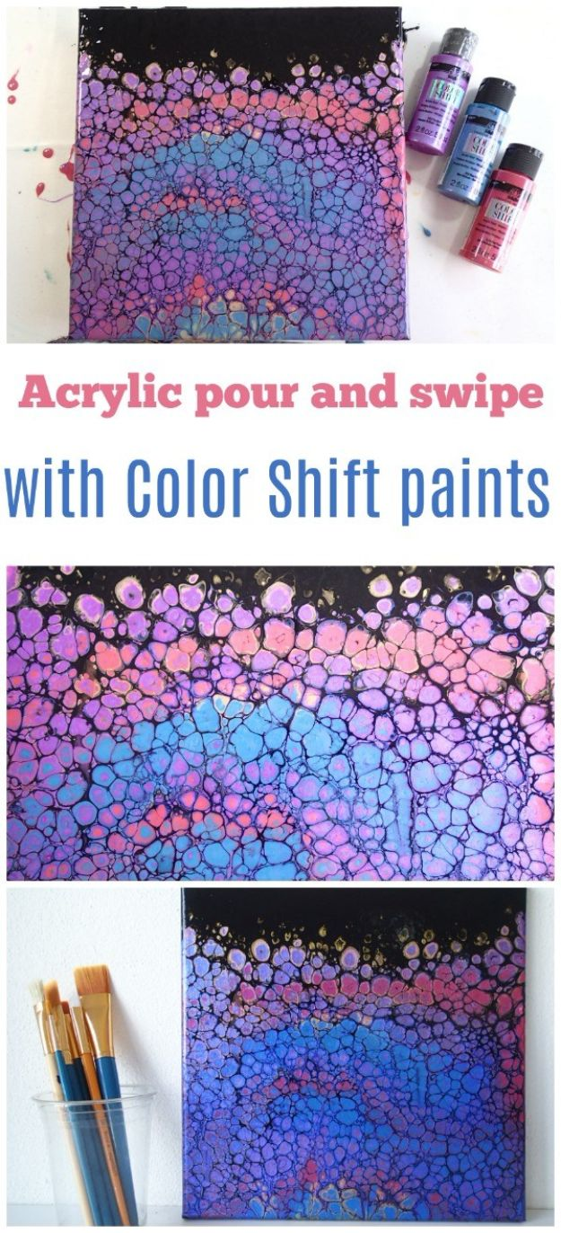 Easy Canvas Painting Ideas for DIY Christmas Gifts - Acrylic Pour And Swipe With Color Shift Paint - Quick and Cheap Wall Art to Make for DIY Gift Ideas - DIY Acrylic Painting Ideas on Canvas - Make Flowers, Ocean, Sky, Abstract People, Landscapes, Buildings, Animals, Portraits, Sunset With Acrylics - Step by Step Art Lessons for Beginners - Easy Video Tutorials and How To for Acrylic Paintings
