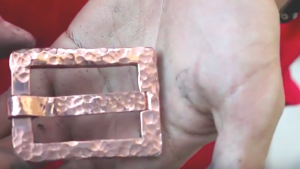 He Makes A Cool Custom Belt Buckle Out Of Copper Then Gives It A Unique Hammered Look!