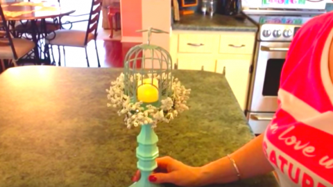 She Easily Makes This Amazing Candle Holder That Adds So Much Charm To A Decor! | DIY Joy Projects and Crafts Ideas