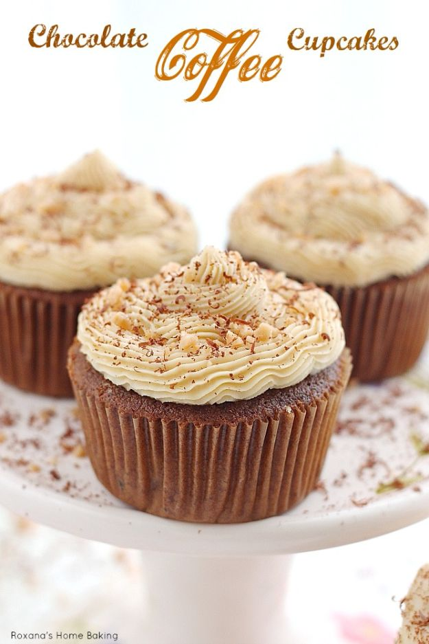 Coffee Drink Recipes - Chocolate Coffee Cupcake - Easy Drinks and Coffees To Make At Home - Frozen, Iced, Cold Brew and Hot Coffee Recipe Ideas - Sugar Free, Low Fat and Blended Drinks - Mocha, Frappucino, Caramel, Chocolate, Latte and Americano - Flavored Coffee, Liqueur and After Dinner Drinks With Alcohol, Dessert Ideas for Parties #coffeedrinks #coffeerecipes #coffee #drinkrecipes
