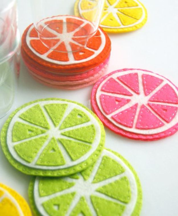 Cool Things To Sew For Summer - Citrus Coasters - Easy Dresses, Cute Skirts, Maxi Dress, Shorts, Pants and Tops