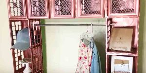 Add Some Pizzazz And Extra Clothing Storage With This Brilliant DIY Project!