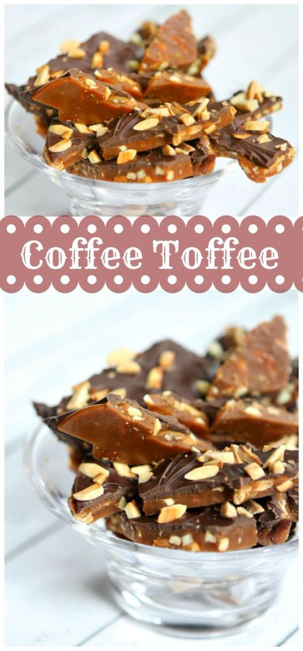 Coffee Drink Recipes - Coffee Toffee - Easy Drinks and Coffees To Make At Home - Frozen, Iced, Cold Brew and Hot Coffee Recipe Ideas - Sugar Free, Low Fat and Blended Drinks - Mocha, Frappucino, Caramel, Chocolate, Latte and Americano - Flavored Coffee, Liqueur and After Dinner Drinks With Alcohol, Dessert Ideas for Parties #coffeedrinks #coffeerecipes #coffee #drinkrecipes