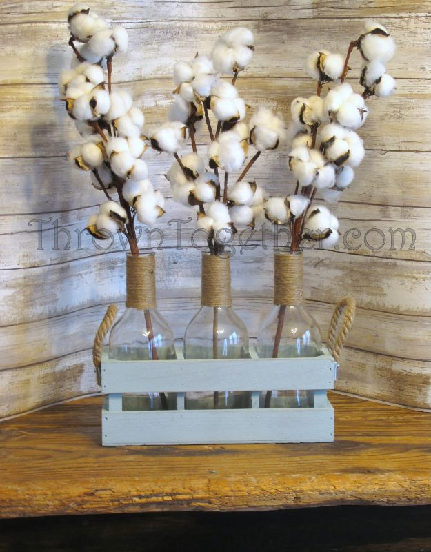 All White DIY Room Decor - Cotton Centerpiece - Creative Home Decor Ideas for the Bedroom and Living Room, Kitchen and Bathroom - Do It Yourself Crafts and White Wall Art, Bedding, Curtains, Lamps, Lighting, Rugs and Accessories - Easy Room Decoration Ideas for Modern, Vintage Farmhouse and Minimalist Furnishings - Furniture, Wall Art and DIY Projects With Step by Step Tutorials and Instructions #diydecor