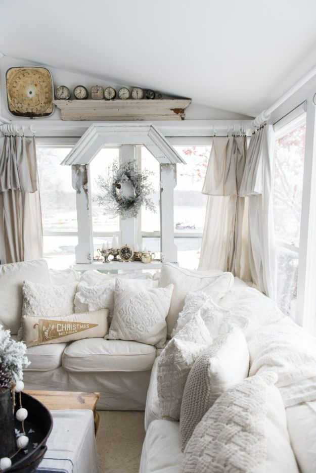 All White DIY Room Decor - Cozy White Pillows - Creative Home Decor Ideas for the Bedroom and Living Room, Kitchen and Bathroom - Do It Yourself Crafts and White Wall Art, Bedding, Curtains, Lamps, Lighting, Rugs and Accessories - Easy Room Decoration Ideas for Modern, Vintage Farmhouse and Minimalist Furnishings - Furniture, Wall Art and DIY Projects With Step by Step Tutorials and Instructions #diydecor