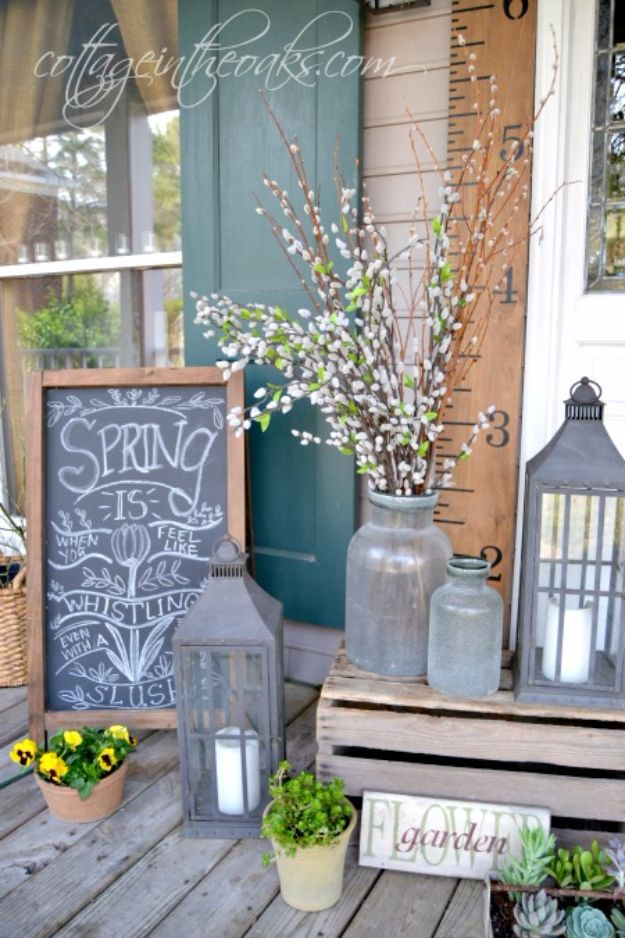Crate Porch Decor