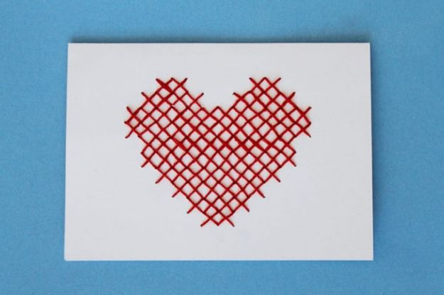 DIY Stationery Ideas - Cross-Stitched Stationery - Easy Projects for Making, Decorating and Embellishing Stationary - Cute Personal Papers and Cards With Creative Art Ideas and Designs - Monogram and Brush Lettering Tips and Tutorials for Envelopes and Notebook - Stencil, Marble, Paint and Ink, Emboss Tutorials - A Handmade Card Set or Box Makes An Awesome DIY Gift Idea - Printables and Cool Ideas for Kids http://diyjoy.com/diy-stationery-ideas