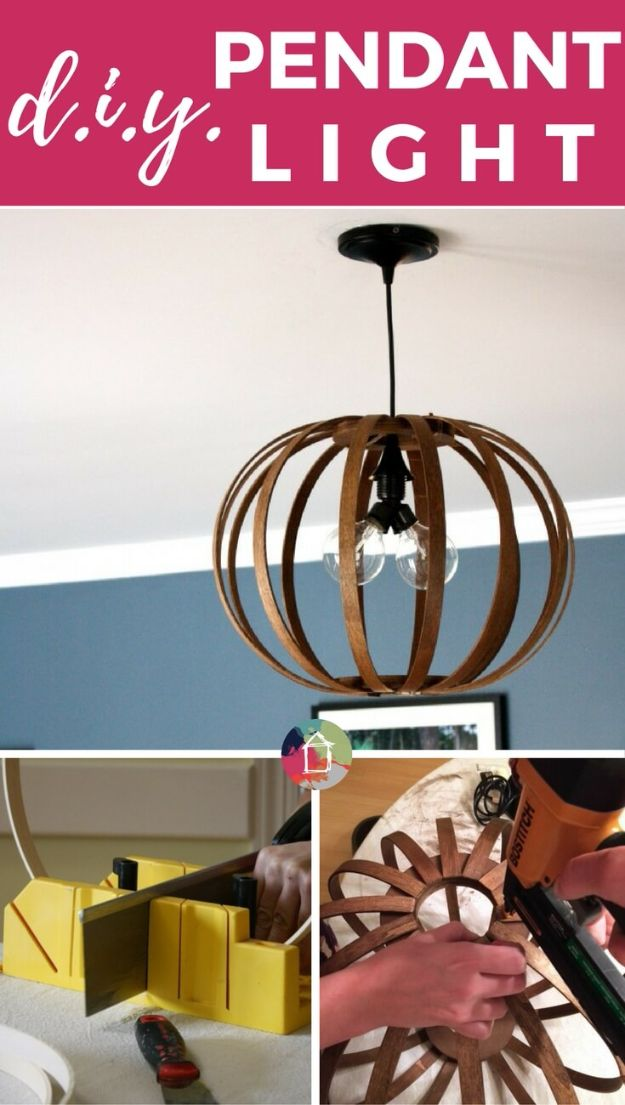 DIY Modern Home Decor - DIY Bentwood Pendant - Room Ideas, Wall Art on A Budget, Farmhouse Style Projects - Easy DIY Ideas and Decorations for Apartments, Living Room, Bedroom, Kitchen and Bath - Fixer Upper Tips and Tricks