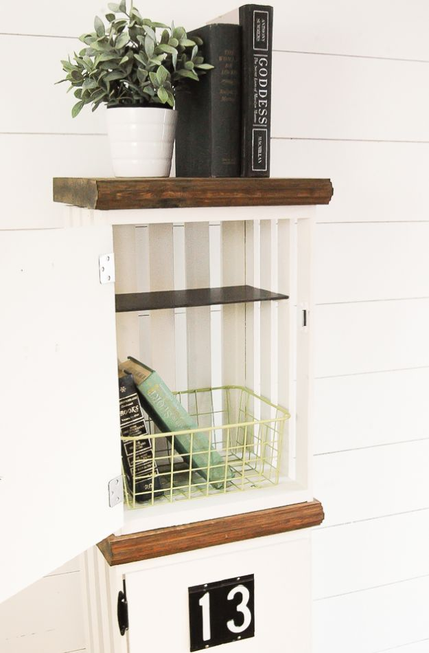 DIY Crate Lockers - Ideas to Make With Wooden Crates - DIY Wine Crate Ideas - Cheap Shelves for Home Decor