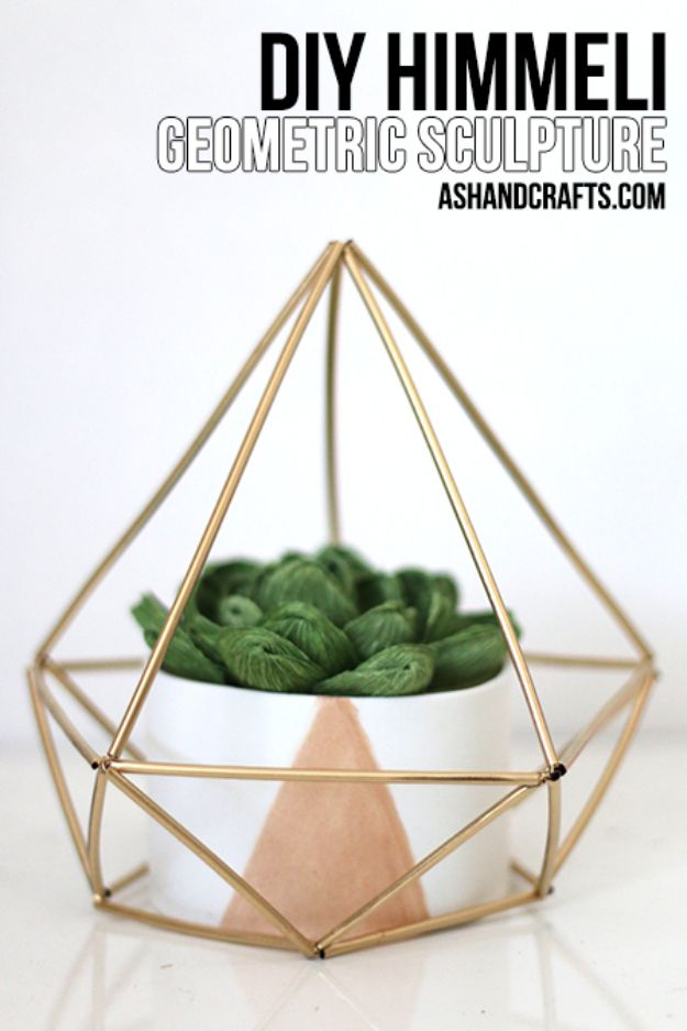 DIY Modern Home Decor - DIY Himmeli Geometric Sculpture - Room Ideas, Wall Art on A Budget, Farmhouse Style Projects - Easy DIY Ideas and Decorations for Apartments, Living Room, Bedroom, Kitchen and Bath - Fixer Upper Tips and Tricks