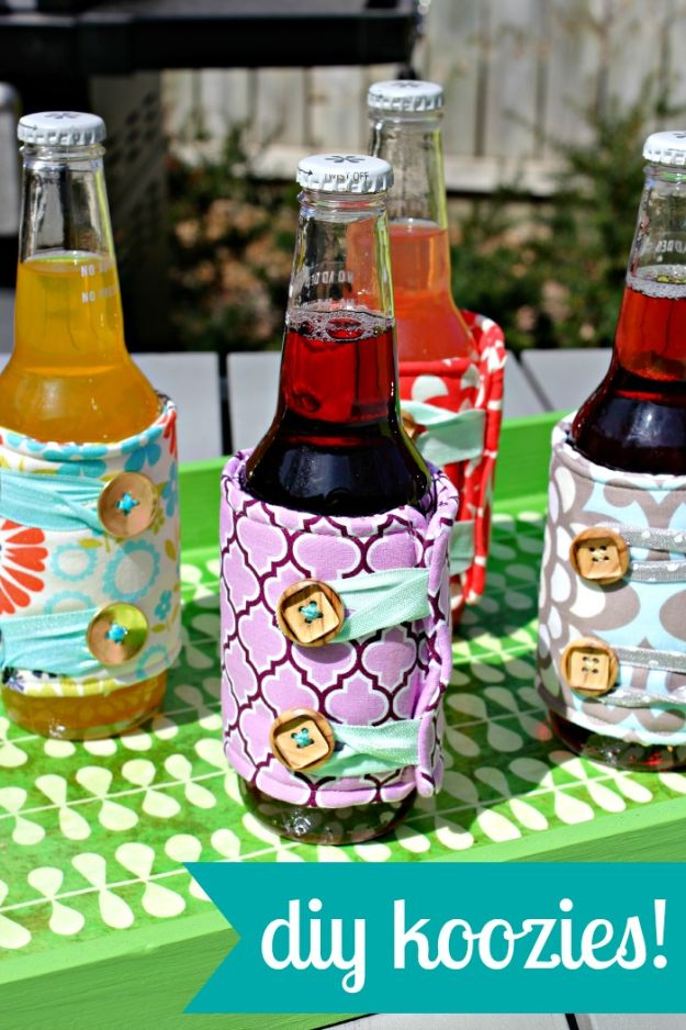 Cool Things To Sew For Summer - DIY Koozies - Easy Dresses, Cute Skirts, Maxi Dress, Shorts, Pants and Tops