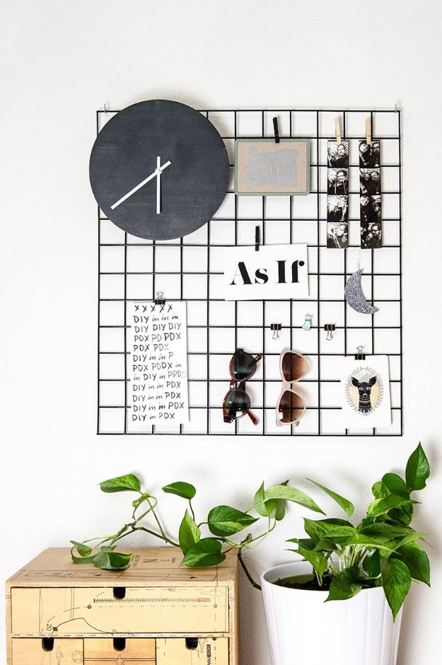 DIY Modern Home Decor - DIY Metal Wall Grid - Room Ideas, Wall Art on A Budget, Farmhouse Style Projects - Easy DIY Ideas and Decorations for Apartments, Living Room, Bedroom, Kitchen and Bath - Fixer Upper Tips and Tricks