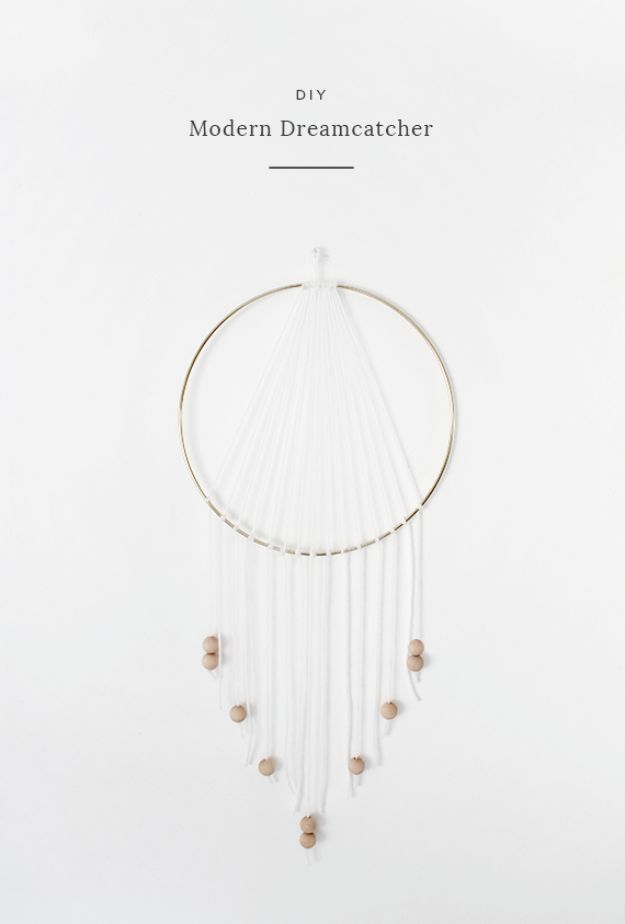 DIY Modern Home Decor - DIY Modern Dreamcatcher - Room Ideas, Wall Art on A Budget, Farmhouse Style Projects - Easy DIY Ideas and Decorations for Apartments, Living Room, Bedroom, Kitchen and Bath - Fixer Upper Tips and Tricks