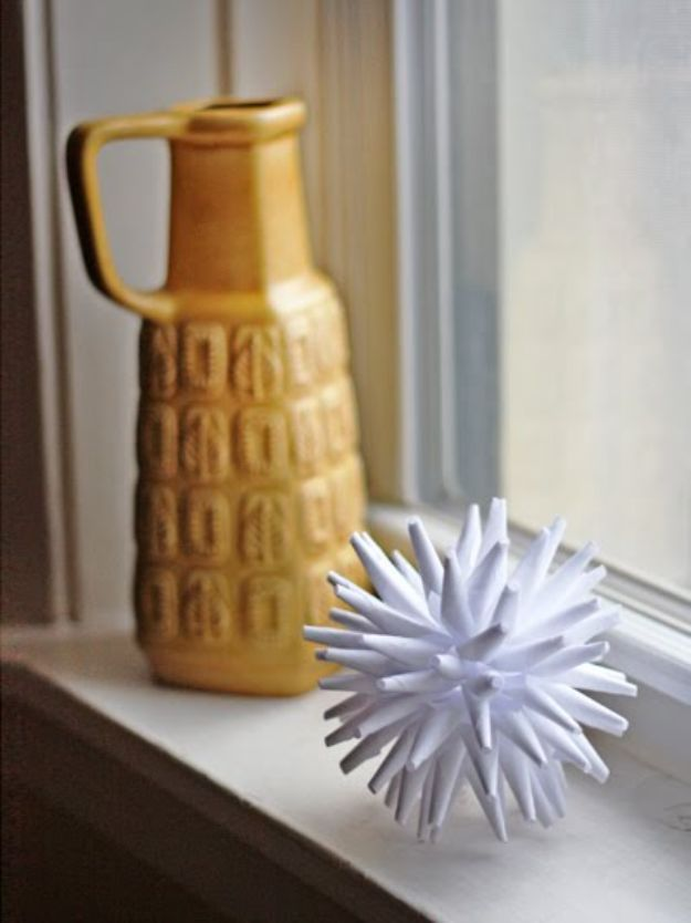 All White DIY Room Decor - DIY Modern Paper Ornament - Creative Home Decor Ideas for the Bedroom and Living Room, Kitchen and Bathroom - Do It Yourself Crafts and White Wall Art, Bedding, Curtains, Lamps, Lighting, Rugs and Accessories - Easy Room Decoration Ideas for Modern, Vintage Farmhouse and Minimalist Furnishings - Furniture, Wall Art and DIY Projects With Step by Step Tutorials and Instructions #diydecor