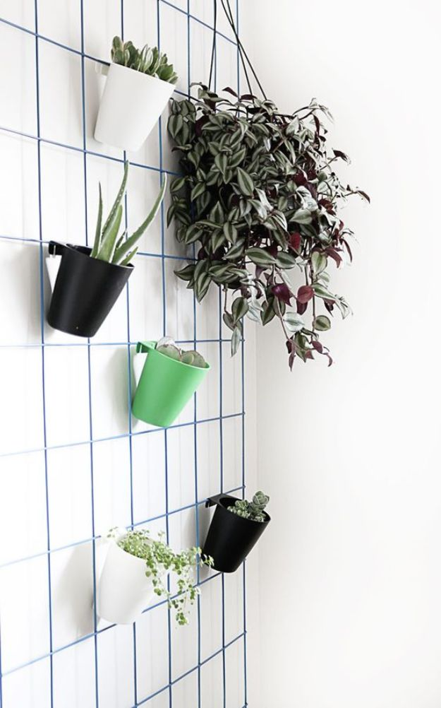 DIY Plant Hangers - DIY Modern Wire Plant Hanger- Cute and Easy Home Decor Ideas for Plants - How To Make Planters, Hanging Pot Holders, Wire, Rope and Baskets - Quick DIY Gifts Ideas, Macrame Plant Hanger #gardening #plants #diyideas