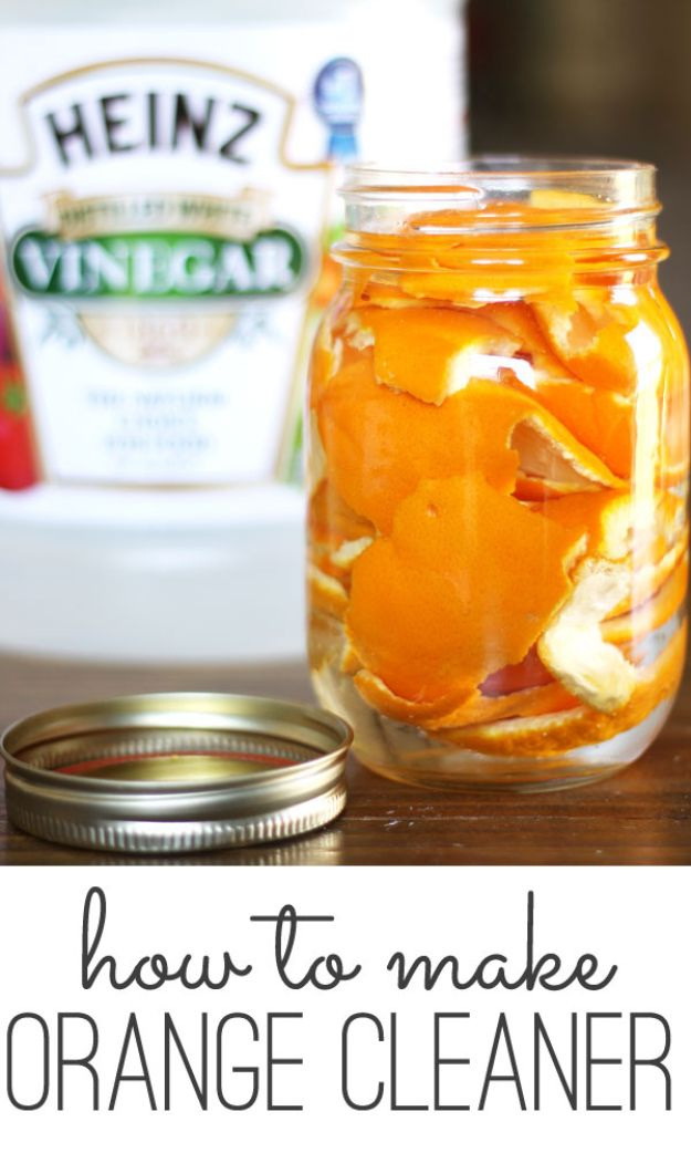 Homemade Cleaning Products - DIY Orange Cleaner - DIY Cleaners With Recipe and Tutorial - Make DIY Natural and ll Purpose Cleaner Recipes for Home With Vinegar, Essential Oils