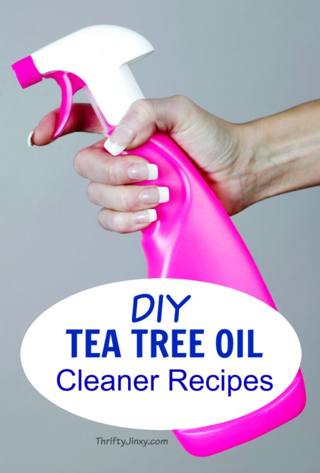 Homemade Cleaning Products - DIY Tea Tree Oil Cleaner - DIY Cleaners With Recipe and Tutorial - Make DIY Natural and ll Purpose Cleaner Recipes for Home With Vinegar, Essential Oils