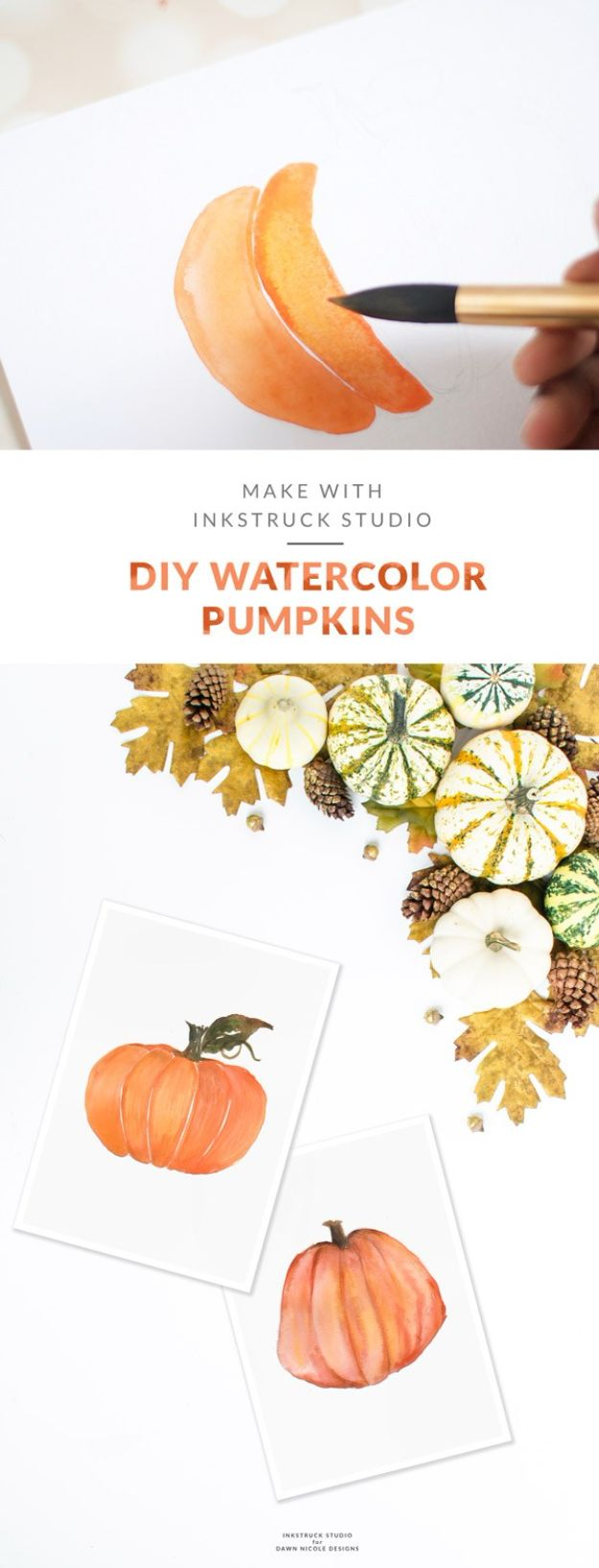 Watercolor Tutorials and Techniques - DIY Watercolor Pumpkin Tutorial - How To Paint With Watercolor - Make Watercolor Flowers, Ocean, Sky, Abstract People, Landscapes, Buildings, Animals, Portraits, Sunset - Step by Step Art Lessons for Beginners - Easy Video Tutorials and How To for Watercolors and Paint Washes #art #watercolor #diyart #artlessons #painting http://diyjoy.com/watercolor-tutorials