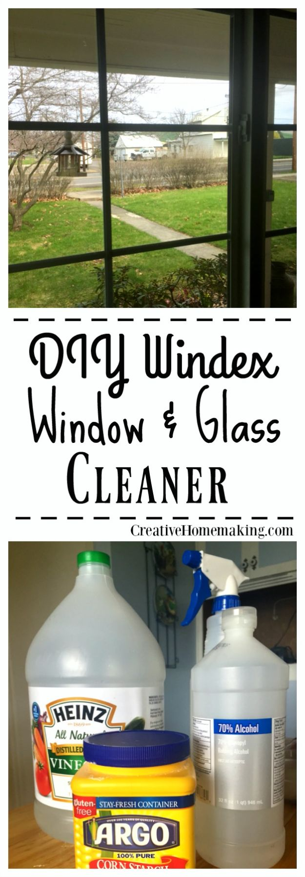 Homemade Cleaning Products - DIY Windex Homemade Glass and Window Cleaner - DIY Cleaners With Recipe and Tutorial - Make DIY Natural and ll Purpose Cleaner Recipes for Home With Vinegar, Essential Oils