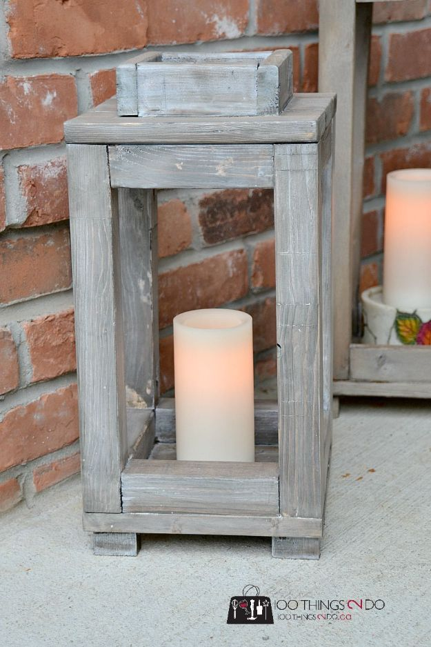DIY Modern Home Decor - DIY Wood Lanterns - Room Ideas, Wall Art on A Budget, Farmhouse Style Projects - Easy DIY Ideas and Decorations for Apartments, Living Room, Bedroom, Kitchen and Bath - Fixer Upper Tips and Tricks