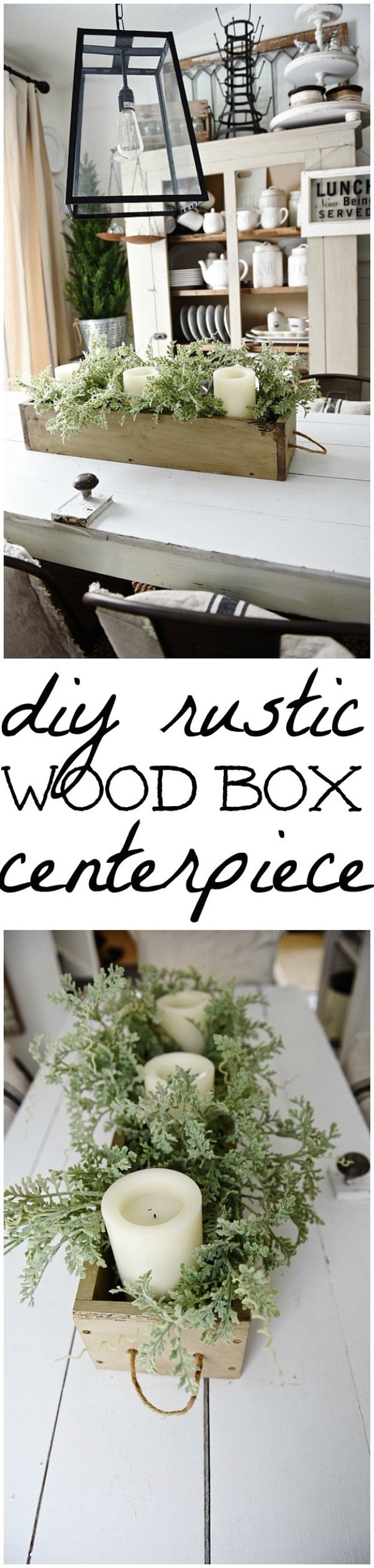 DIY Modern Home Decor - DIY Woodbox Centerpiece - Room Ideas, Wall Art on A Budget, Farmhouse Style Projects - Easy DIY Ideas and Decorations for Apartments, Living Room, Bedroom, Kitchen and Bath - Fixer Upper Tips and Tricks