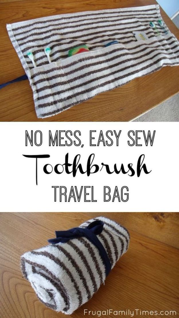 Cool Things To Sew For Summer - Easy Sew Toothbrush Travel Bag - Easy Dresses, Cute Skirts, Maxi Dress, Shorts, Pants and Tops