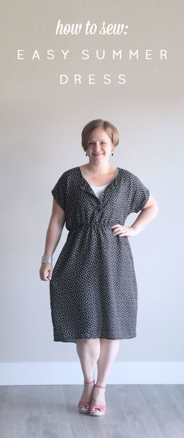 Cool Things To Sew For Summer - Easy Summer Dress - Easy Dresses, Cute Skirts, Maxi Dress, Shorts, Pants and Tops