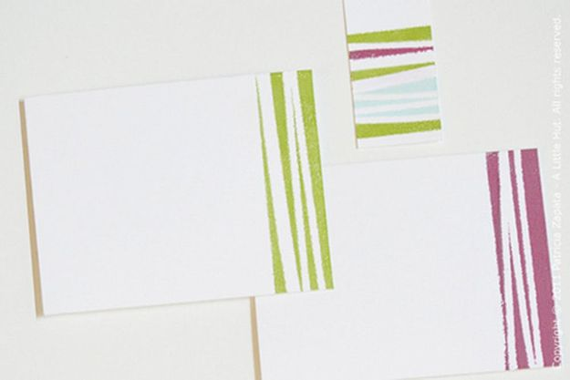 DIY Stationery Ideas - Embossed Stripes - Easy Projects for Making, Decorating and Embellishing Stationary - Cute Personal Papers and Cards With Creative Art Ideas and Designs - Monogram and Brush Lettering Tips and Tutorials for Envelopes and Notebook - Stencil, Marble, Paint and Ink, Emboss Tutorials - A Handmade Card Set or Box Makes An Awesome DIY Gift Idea - Printables and Cool Ideas for Kids http://diyjoy.com/diy-stationery-ideas