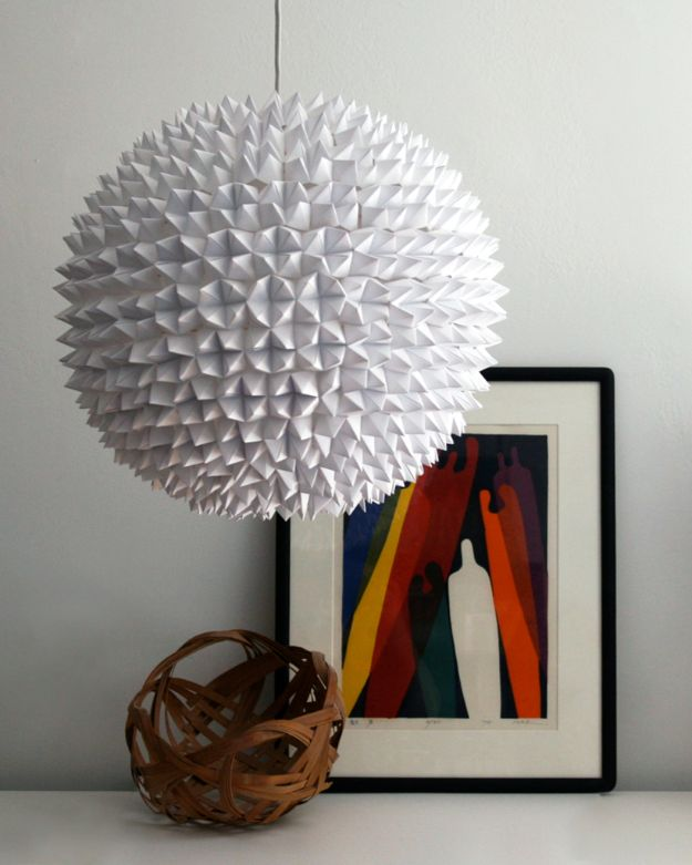 All White DIY Room Decor - Faceted Pendant Light - Creative Home Decor Ideas for the Bedroom and Living Room, Kitchen and Bathroom - Do It Yourself Crafts and White Wall Art, Bedding, Curtains, Lamps, Lighting, Rugs and Accessories - Easy Room Decoration Ideas for Modern, Vintage Farmhouse and Minimalist Furnishings - Furniture, Wall Art and DIY Projects With Step by Step Tutorials and Instructions #diydecor