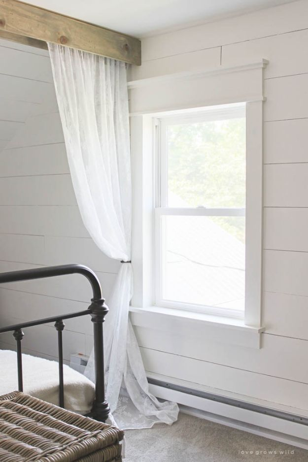 All White DIY Room Decor - Farmhouse Window Trim - Creative Home Decor Ideas for the Bedroom and Living Room, Kitchen and Bathroom - Do It Yourself Crafts and White Wall Art, Bedding, Curtains, Lamps, Lighting, Rugs and Accessories - Easy Room Decoration Ideas for Modern, Vintage Farmhouse and Minimalist Furnishings - Furniture, Wall Art and DIY Projects With Step by Step Tutorials and Instructions #diydecor