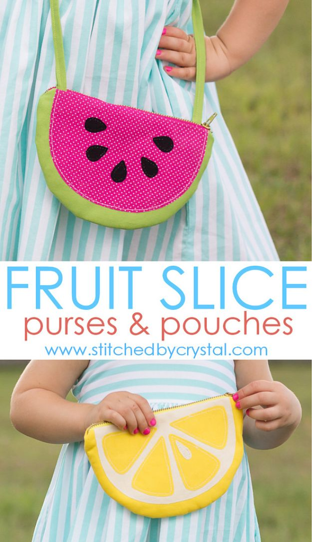 Cool Things To Sew For Summer - Fruit Slice Purses and Pouches - Easy Dresses, Cute Skirts, Maxi Dress, Shorts, Pants and Tops
