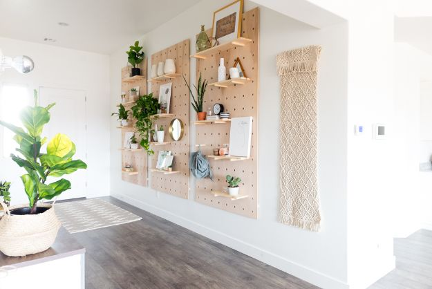 DIY Modern Home Decor - Giant Pegboard DIY - Room Ideas, Wall Art on A Budget, Farmhouse Style Projects - Easy DIY Ideas and Decorations for Apartments, Living Room, Bedroom, Kitchen and Bath - Fixer Upper Tips and Tricks
