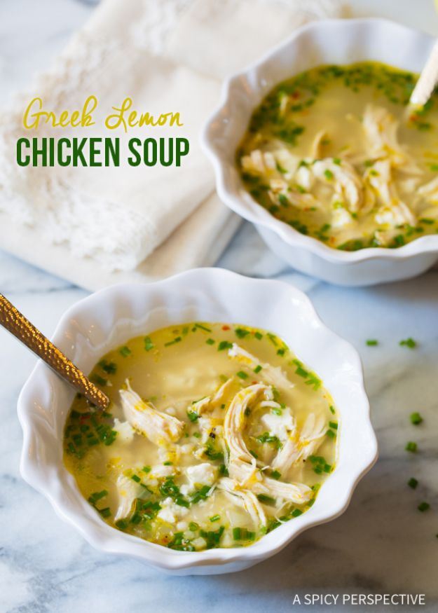 Easy Recipes For Rotisserie Chicken - Greek Lemon Chicken Soup - Healthy Recipe Ideas for Leftovers - Comfort Foods With Chicken - Low Carb and Gluten Free, Crock Pot Meals, Appetizers, Salads, Sour Cream Enchiladas, Pasta, One Pot Meals and Casseroles for Quick Dinners http://diyjoy.com/recipes-rotisserie-chicken