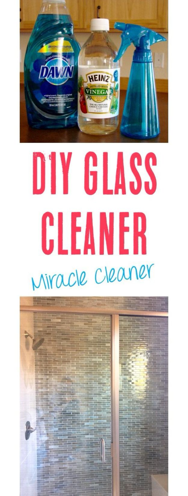 Homemade Cleaning Products - Homemade Glass Cleaner with Vinegar - DIY Cleaners With Recipe and Tutorial - Make DIY Natural and ll Purpose Cleaner Recipes for Home With Vinegar, Essential Oils