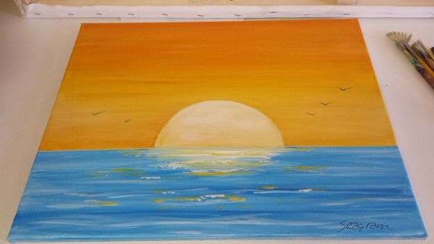 Acrylic Painting Tutorials and Techniques - Paint A Sunset Acrylic Seascape - How To Paint With Acrylic Paint- DIY Acrylic Painting Ideas on Canvas - Make Flowers, Ocean, Sky, Abstract People, Landscapes, Buildings, Animals, Portraits, Sunset With Acrylics - Step by Step Art Lessons for Beginners - Easy Video Tutorials and How To for Acrylic Paintings #art #painting
