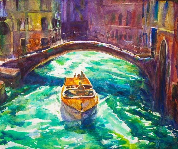 Watercolor Tutorials and Techniques - How To Paint A Venice Boat - How To Paint With Watercolor - Make Watercolor Flowers, Ocean, Sky, Abstract People, Landscapes, Buildings, Animals, Portraits, Sunset - Step by Step Art Lessons for Beginners - Easy Video Tutorials and How To for Watercolors and Paint Washes #art