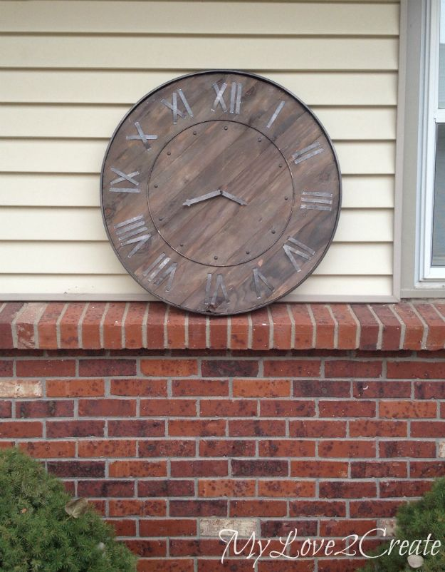 DIY Modern Home Decor - Large Rustic Clock - Room Ideas, Wall Art on A Budget, Farmhouse Style Projects - Easy DIY Ideas and Decorations for Apartments, Living Room, Bedroom, Kitchen and Bath - Fixer Upper Tips and Tricks